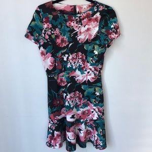 Love...Ady floral dress medium black pink